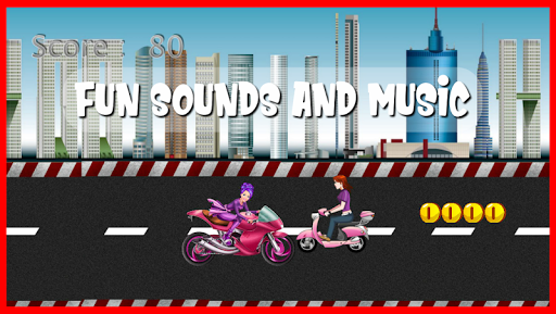 highway motor racer : girl game screenshot 2