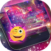 Dreamer Galaxy Emoji Keyboard Theme