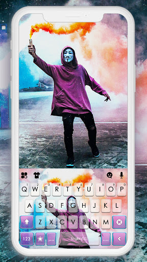 Anonymous Smoky Keyboard Background screenshots 1