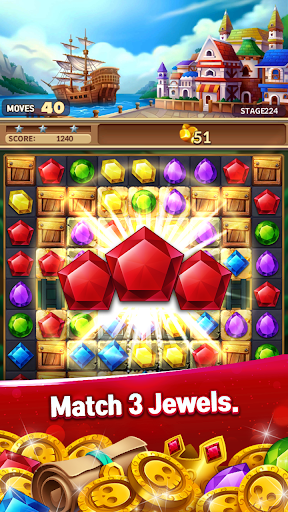 Jewels Fantasy Crush : Match 3 Puzzle apkpoly screenshots 3