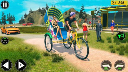 Bicycle Tuk Tuk Auto Rickshaw : New Driving Games  screenshots 2