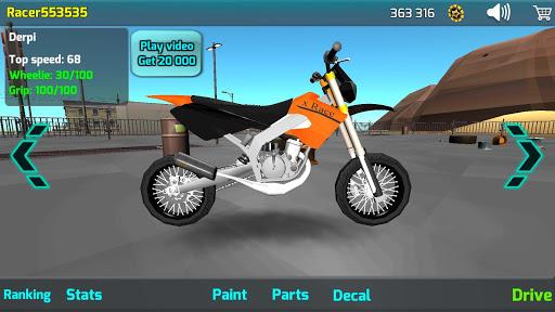 Wheelie King 4 - Online Wheelie Challenge 3D 1 screenshots 2
