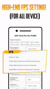 GFX Tool PUBG Pro (Advance FPS Settings + No Ban)
