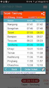 Taiwan Railway Timetable