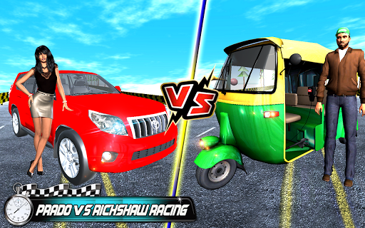 Prado vs Tuk Tuk Auto Rickshaw Racing  screenshots 5