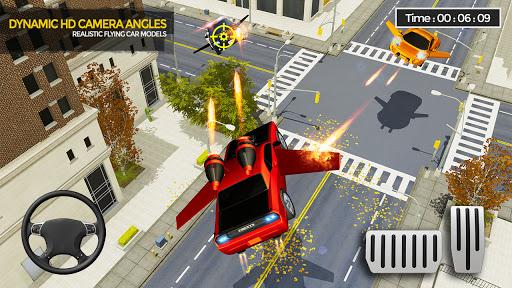 Flying Car Shooting Game: Modern Car Games 2021  Screenshots 9