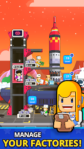 Rocket Star MOD APK- Idle Space Factory Tycoon (Unlimited Star Coins) 4