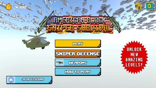 American Block Sniper Survival Mod Apk 101 (Unlimited Coin) 4