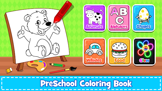 Coloring Games : PreSchool Coloring Book for kids screenshots 8