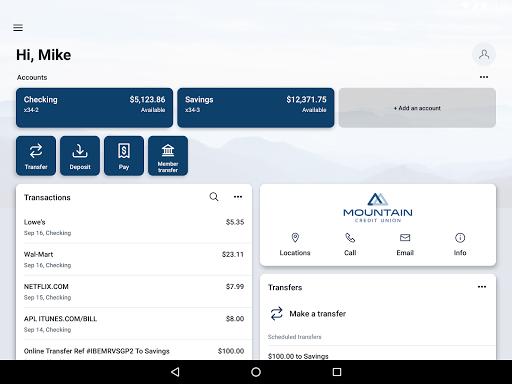 MountainCU Mobile  screenshots 6