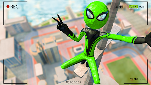 Flying Stickman Rope Hero  screenshots 4
