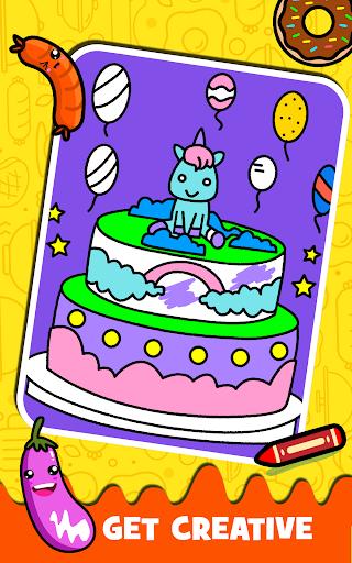 Fruits Coloring book & Food Drawing book Kids Free modavailable screenshots 5