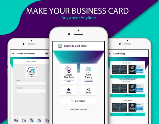 Foto do Free Business Card Maker Visiting Card Maker photo