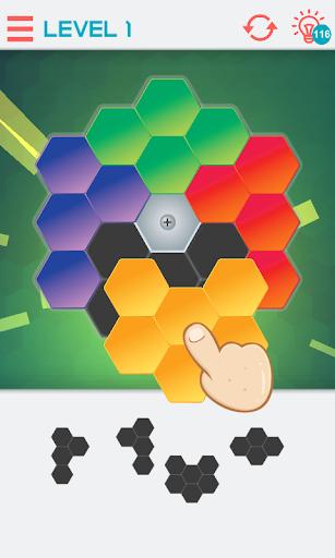 hexagon graph: geometry puzzle screenshot 3