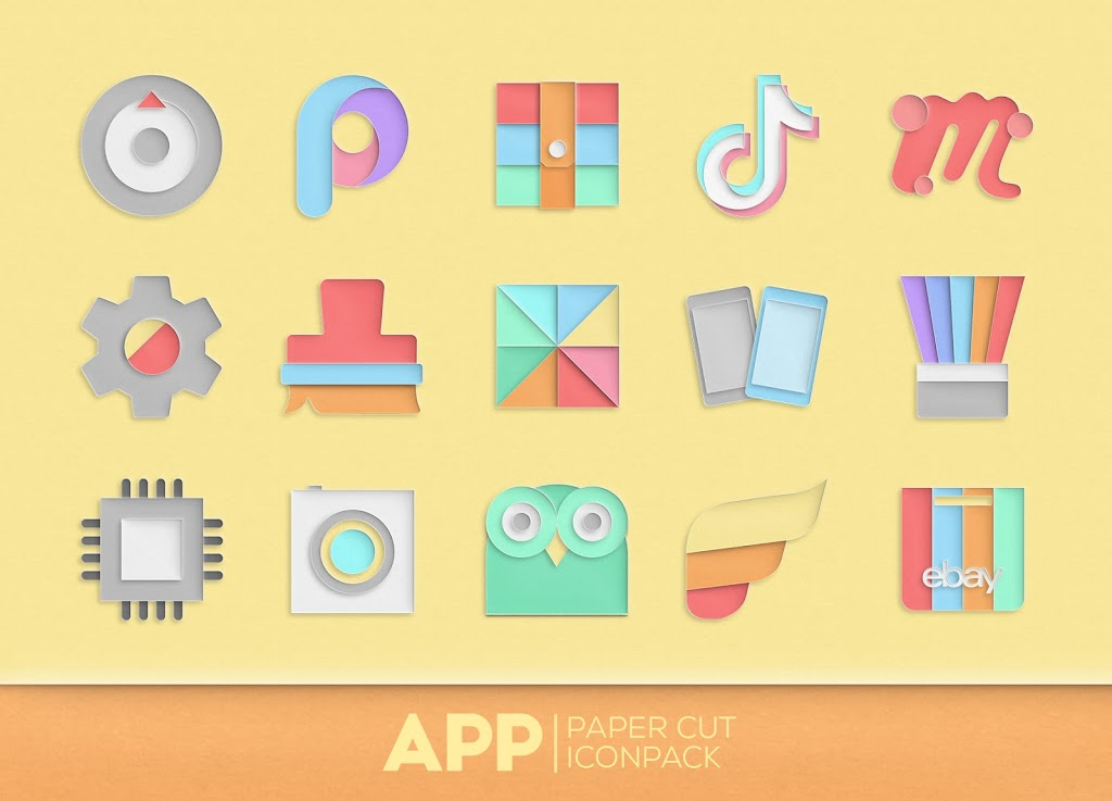 Paper Cut Icon pack New  poster 4