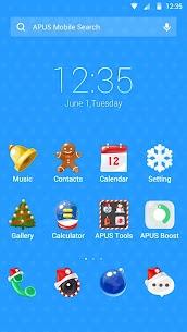 Merry Christmas  Santa &HD Wallpapers -APUS theme 595.0.1001 [Mod + APK] Android 1
