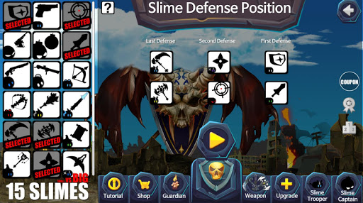 15 Slimes! : Offline Action Defence 1 screenshots 2