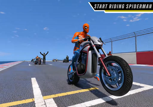 Superhero Tricky Bike Stunt Racing 2021  screenshots 3