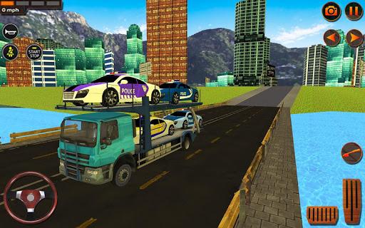 Police Car Transporter Simulator: Truck Driving 3d apkpoly screenshots 12