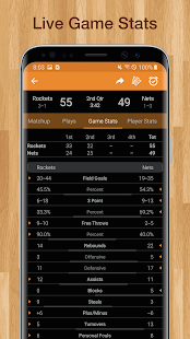 Basketball NBA Live Scores, Stats, & Plays 2020 Screenshot