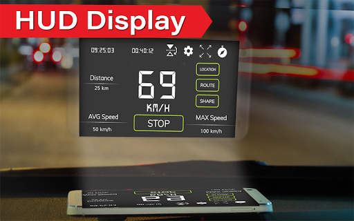 Digital Speedometer - GPS Offline odometer HUD Pro 3.3.5 Screenshots 4