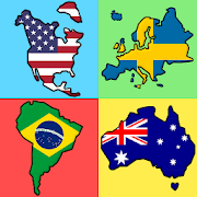Flags of the World Continents - New Geography Quiz