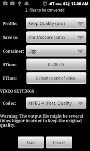 Video Converter Android Screenshot