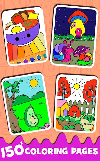 Fruits Coloring book & Food Drawing book Kids Free modavailable screenshots 2