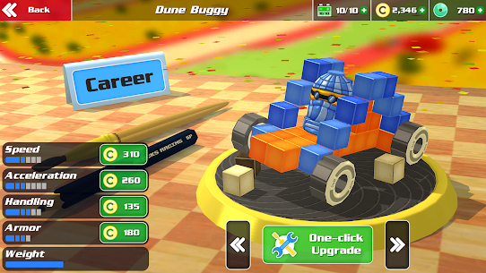 Free Pixel Car Racer – Real Voxel  Blocky Cars Racing 4