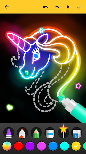 Learn to Draw Glow Cartoon  screenshots 2