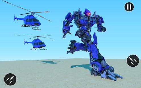 US Police Car Transform Robot War Rescue 2021 1.0.7 Screenshots 15