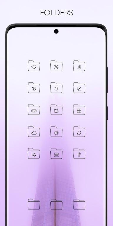 Vera Outline Black - Black linear icons  poster 4