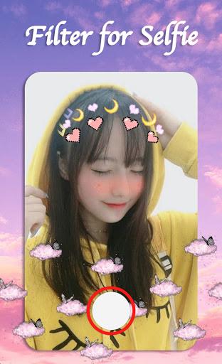 Filter for Selfie - Sweet Snap Face Camera  Screenshots 1