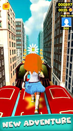 Subway Girl Runner Surf Game  screenshots 5