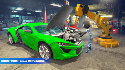 Stickman Car Garage Repair Shop  screenshots 3