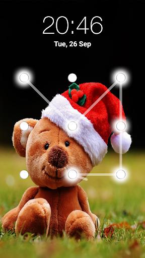 teddy bear pattern lock screen screenshot 3
