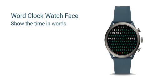 Word Clock Watch Face screenshot 1