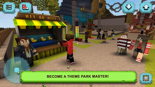 Theme Park Craft: Build & Ride  screenshots 1