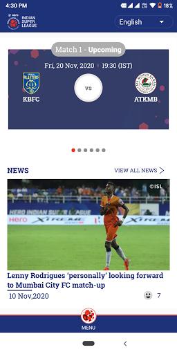 Indian Super League - Official App 8.8 Screenshots 1