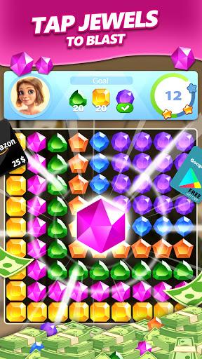 Jewel Blast & Diamond Crush Puzzle Game to BIG WIN android2mod screenshots 4