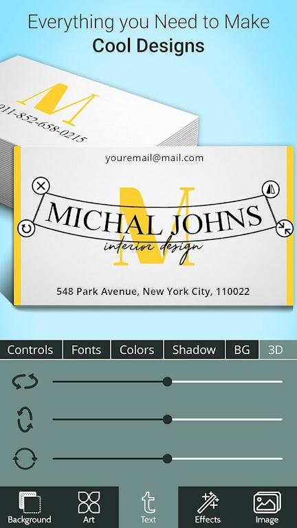 Business Card Maker  poster 3
