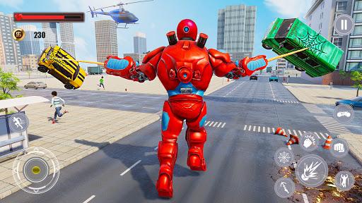 Flying Police Monster Robot Rope Hero: Crime City  screenshots 7