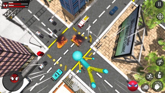 Stickman Rope Hero – Amazing Spider Crime City Game Hack Android and iOS 1