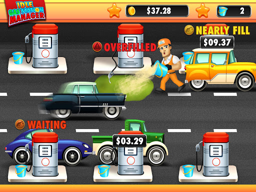 idle gas station manager: fuel factory tycoon screenshot 2