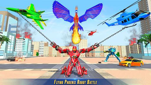 Flying Police Phoenix Robot Game screenshots 1