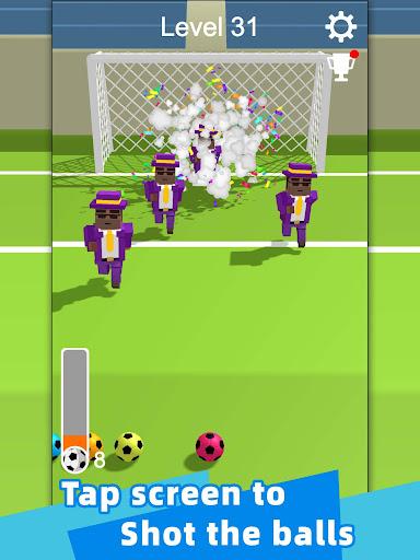 Straight Strike - 3D soccer shot game screenshots 6