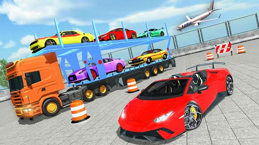 Code Triche Jeux transporteur de voiture: Jeux de camions APK MOD (Astuce) screenshots 1