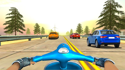 Highway Real Traffic Bike Racer screenshots 4