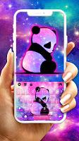 screenshot of Galaxy Baby Panda2 Keyboard Theme