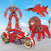 Lion Robot Transform Wars : Super Bike Robot Games